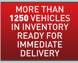 More than 1250 vehicles in inventory